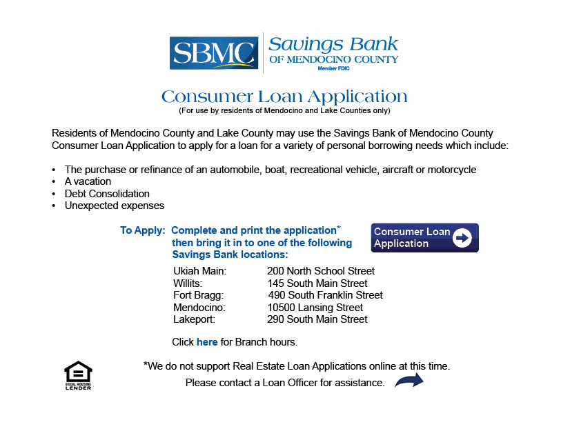 How to apply for a consumer loan